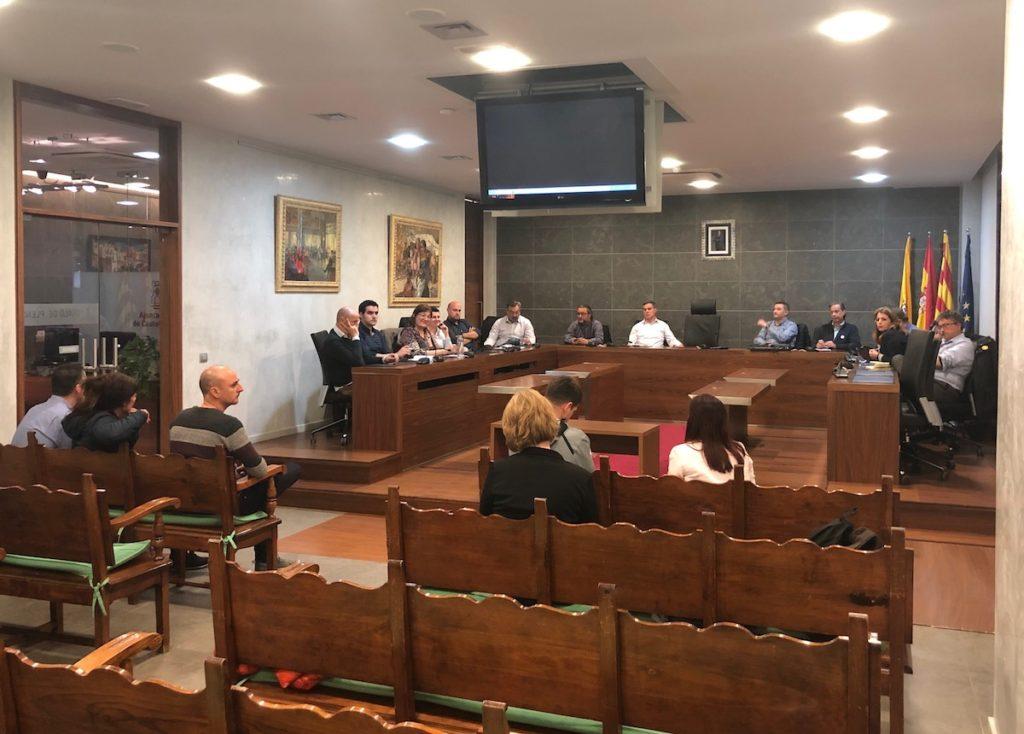 Reunió al Ple de l'Alcaldia de Castelldefels